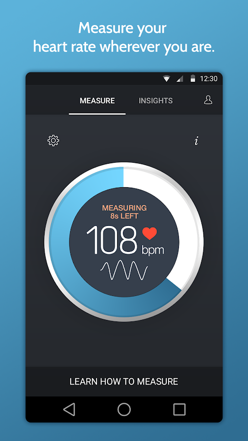 Instant Heart Rate Monitor Pro- screenshot