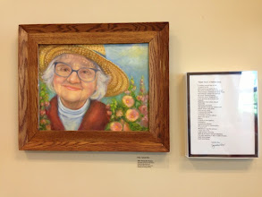 """Photo: """"Among My Flowers"""" Oil painting by Sydelle Sher Art exhibition at Weissman Center"""