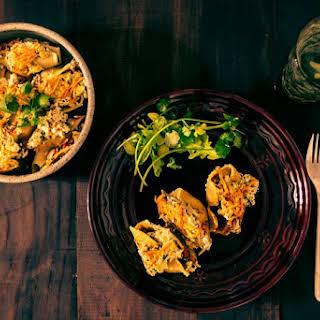 Vegan Ricotta, Pumpkin & Kale Stuffed Shells.