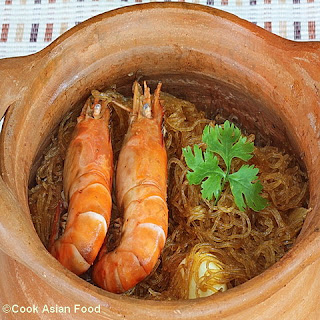 Baked Shrimp with Glass Noodles - Thai
