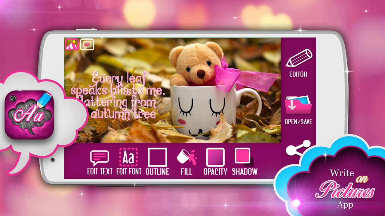 Write on pictures app android apps on google play write on pictures app screenshot jeuxipadfo Choice Image