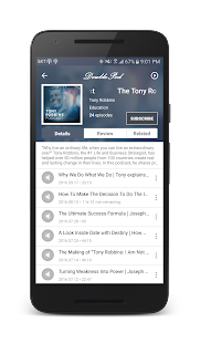 DoublePod Podcasts for android- screenshot thumbnail