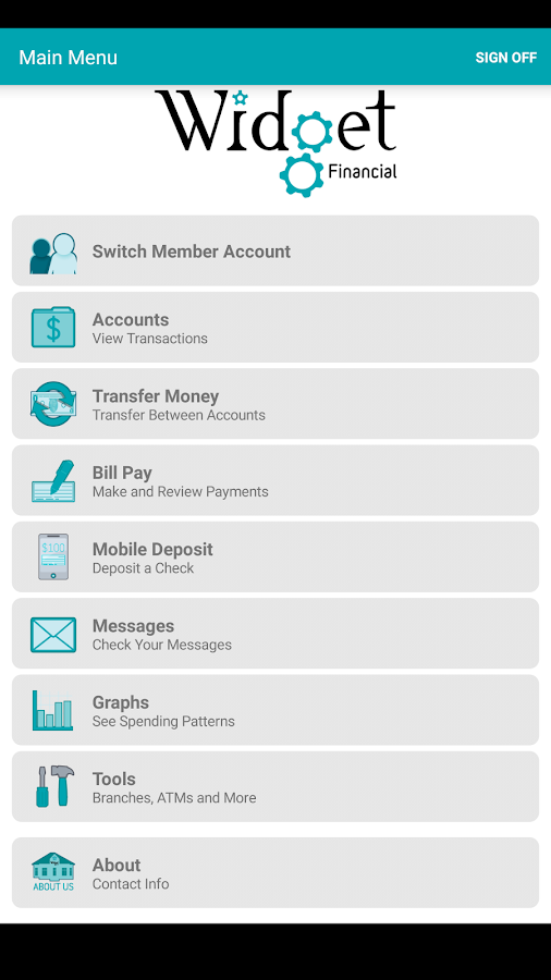 Widget Financial Mobile- screenshot