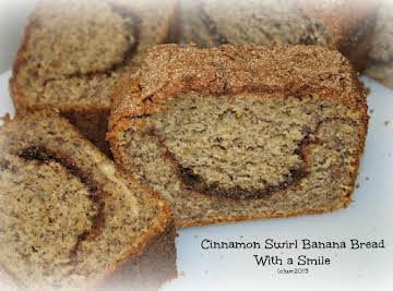 Happy Cinnamon Swirl Banana Bread