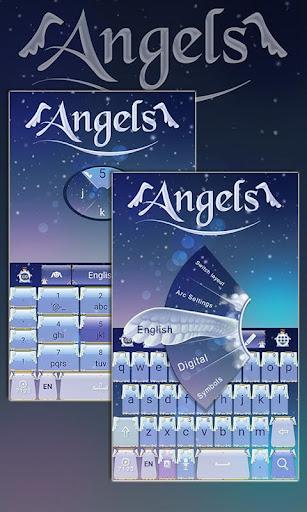 Angels Keyboard Theme Emoji