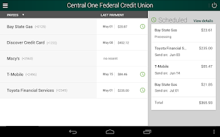 Screenshot of Central One FCU