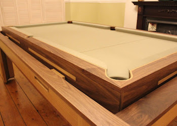 The Spartan Pool Table with cream felt