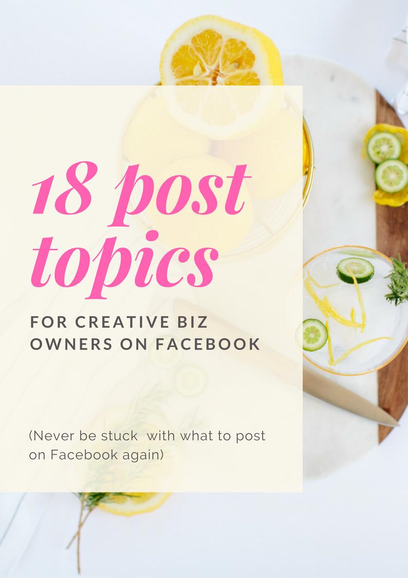 18 post topics