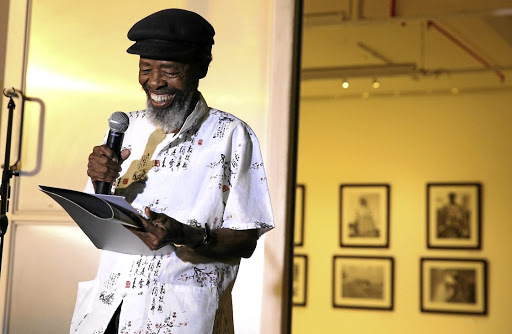 Words of wisdom: Writers, friends and intellectuals have paid tribute to poet Keorapetse Kgositsile, also known as Bra Willie, who they say was never without a smile. Picture: SYDNEY SESHIBEDI
