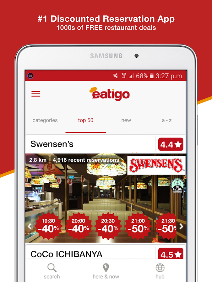 eatigo - restaurant discounts- screenshot