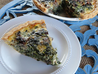 Spinach, Mushroom, Onion Quiche Recipe