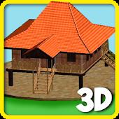 3D Puzzle Rumah Bubungan Lima