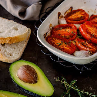 Slow Roasted Tomatoes With Avocado & Feta.