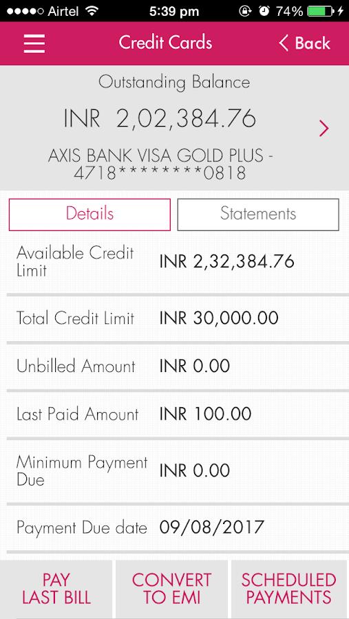 Axis Mobile - screenshot
