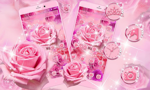 Glitter Pink Rose Theme – Apps on Google Play