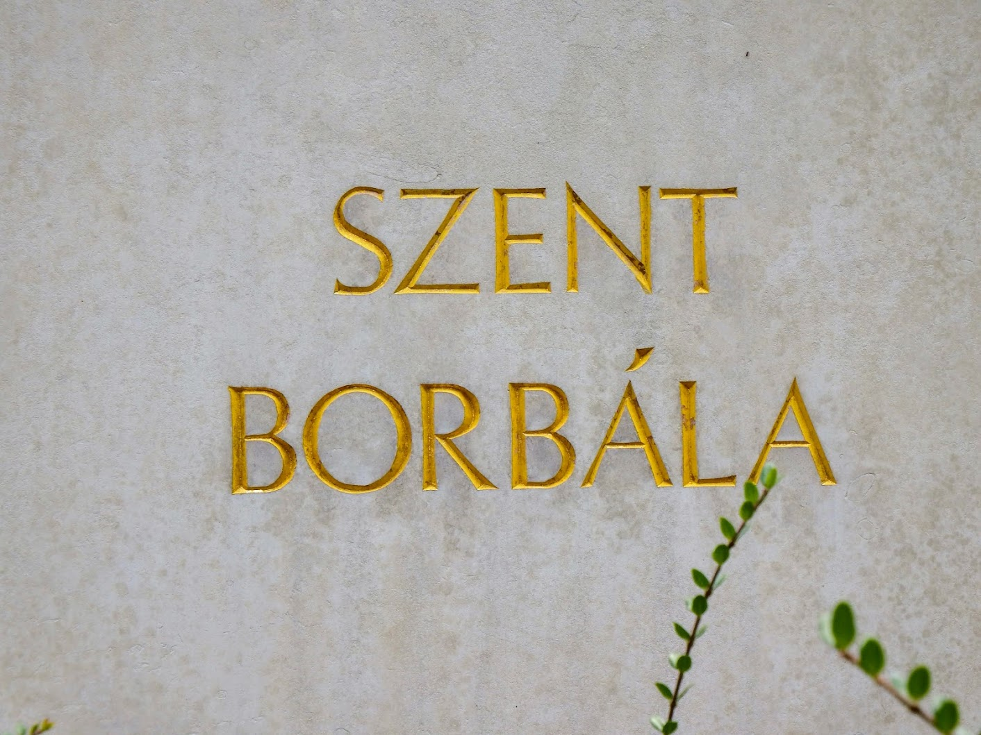 Tatabánya - Szent Borbála-szobor