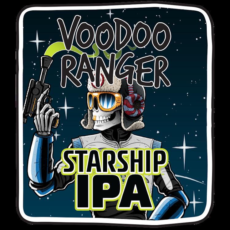 Logo of New Belgium Voodoo Ranger Starship IPA