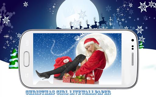 Christmas Girl Live Wallpaper
