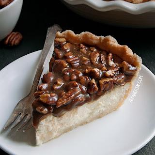 Caramel Pecan Cheesecake Pie (gluten-free, whole grain, all-purpose flour options)