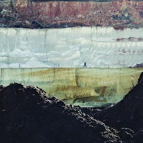 Jurassic Walker by Goran Popović - Professional People Technology Workers ( miner, kolubara, jurassic, coal, worker, lignite, pit, industry, walk )