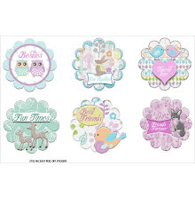 FabScraps Woodland Friends Stickers - Friendship Tags