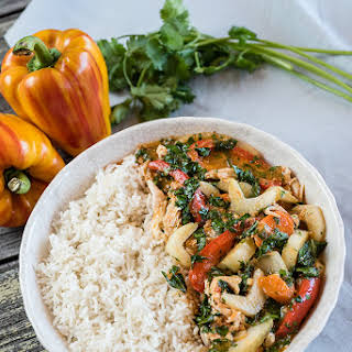 Thai Coconut Curry Chicken in a Slow Cooker.