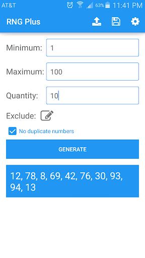 Random Number Generator Plus