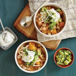 Winter Squash Stew with Cilantro-Avocado Salsa.