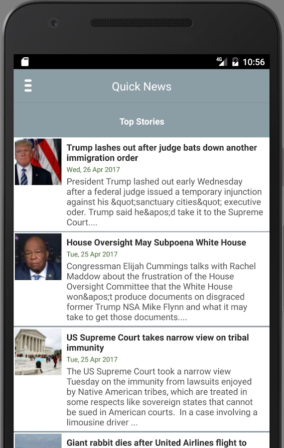 U.S. QuickNews- screenshot