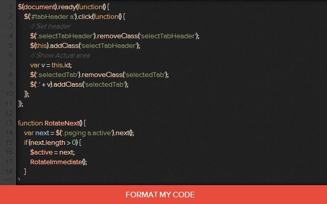 Code Formatter