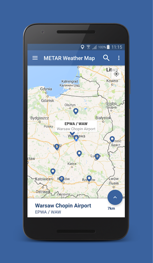 Metar Weather Map- screenshot