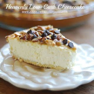 Heavenly Low-Carb Cheesecake.