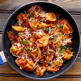 CHEESE TORTELLINI WITH TUSCAN HERB SAUCE.