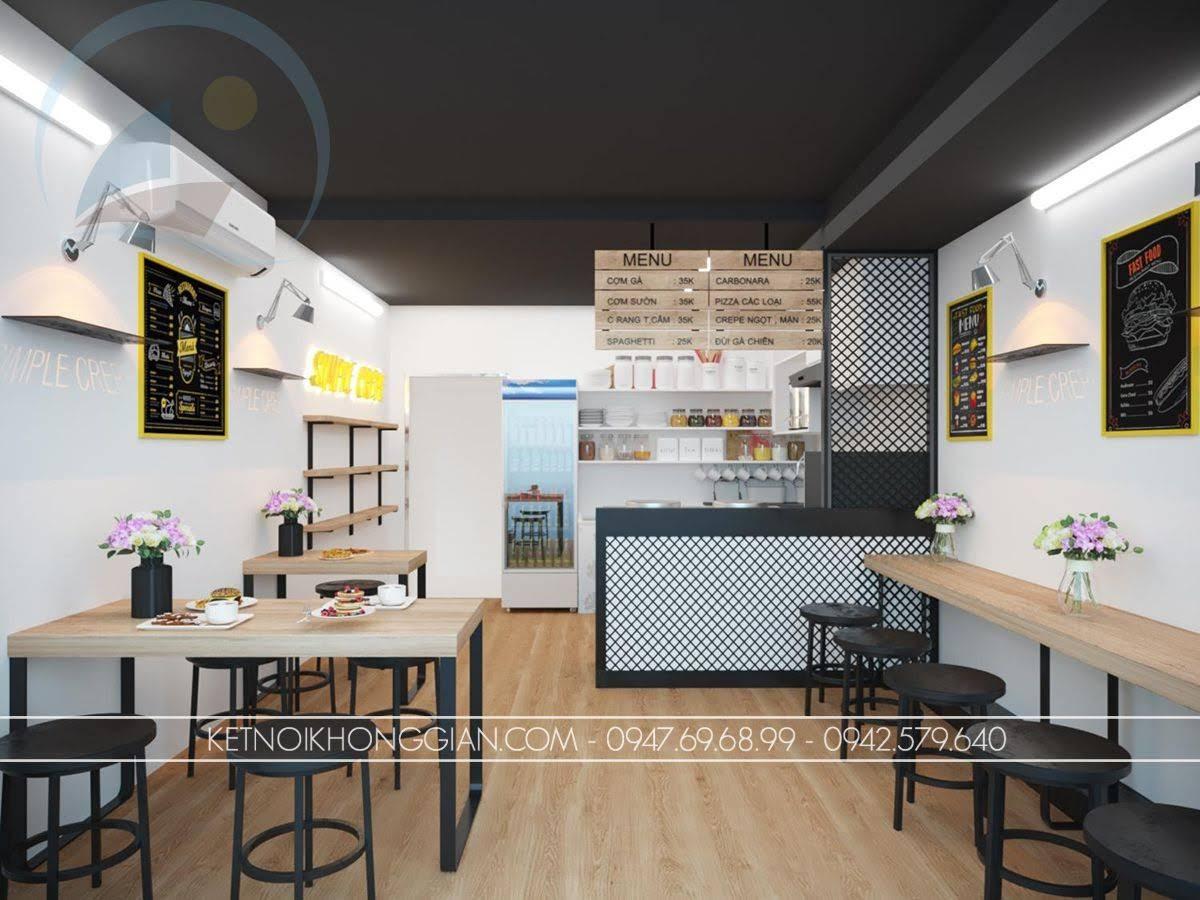 thiết kế quán ăn nhanh đẹp mắt