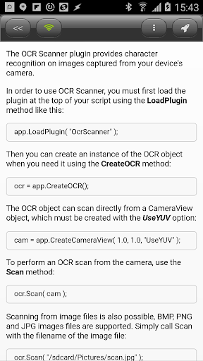 DroidScript - OcrScanner Plugin  screenshots 2