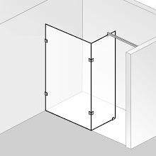 Duschkabinen_05 Walk In Atelier Pur Glaselement mit Seitenteil