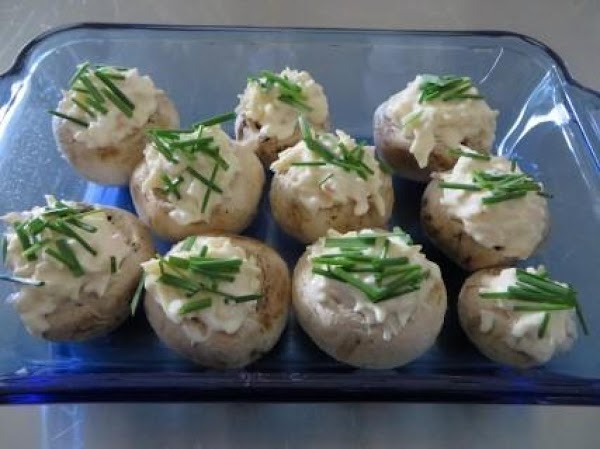 Sprinkle the tops of each Mushroom with the Chives or Green Onions. In these...