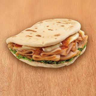Turkey and Brie Foldit® Flatbread Sandwich.