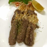 Sliced Beef with Enoki Mushroom