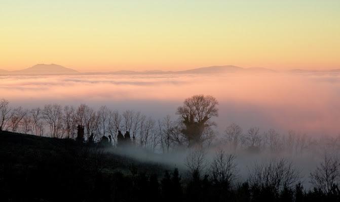 Tramonto con nebbia di Mullahomark86