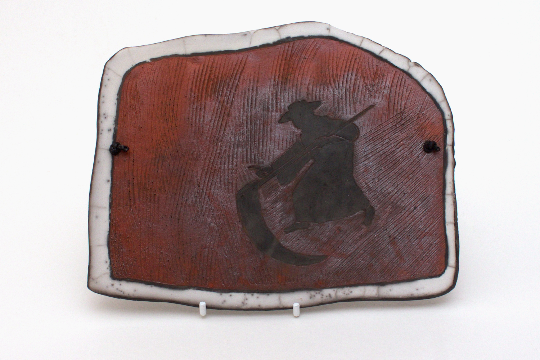 Elizabeth Raeburn Ceramic Raku Plaque 01