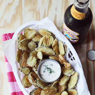 Fried Pickles + Spicy Dill Pickle Mayo May 27, 2013.