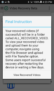 Video Recovery Beta Screenshot