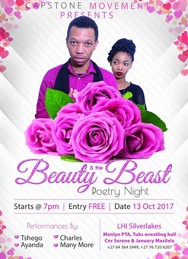 Beauty And The Beast Poetry Night : Gauteng North Wrestling Hall