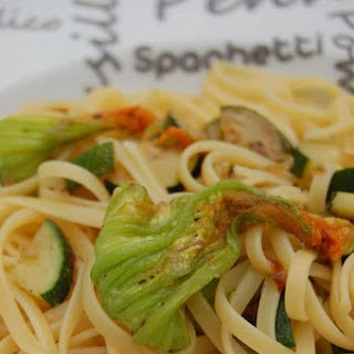 Liguine with Zucchini and Zucchini Flowers Recipe