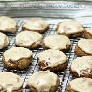 Fall Pumpkin Spice Cookies