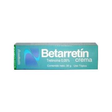 Betarretín 0.05% Crema   Frasco x30g. MEDIHEALTH Tretinoína