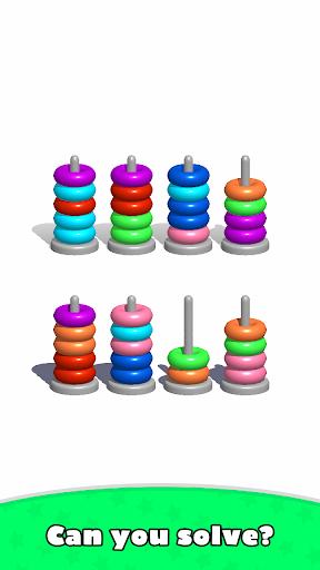 Sort Hoop Stack Color - 3D Color Sort Puzzle android2mod screenshots 3