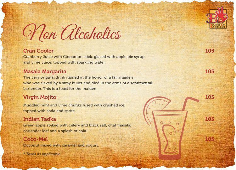3B's - Buddies, Bar & Barbecues menu 8