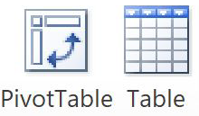 Add a pivot table in 2013 version